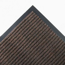 Needle Rib Wipe & Scrape Mat, Polypropylene, 48 x 72, Brown