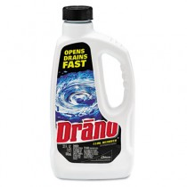 Liquid Drain Cleaner, 32 oz Safety Cap Bottle