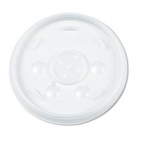 Plastic Lids, for 32-oz. Hot/Cold Foam Cups, Straw Slotted Lid, White