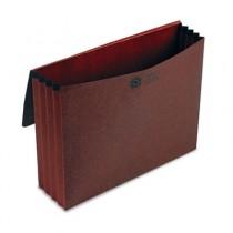 3 1/2 Inch Expansion Standard Wallet, Red Fiber, Letter, Red