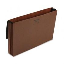3 1/2 Inch Expansion Standard Wallet, Red Fiber, Legal, Red