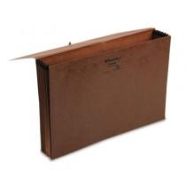 5 1/4 Inch Expansion Standard Wallet, Red Fiber, Legal, Red