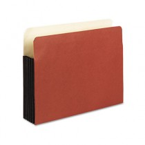 Watershed 5 1/4 Inch Expansion File Pockets, Straight Cut, Letter, Redrope