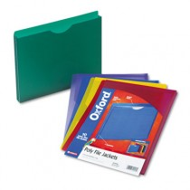 Expanding File Jackets, Letter, Poly, Blue/Green/Purple/Red/Yellow, 10/Pack