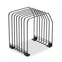 Workstation File Organizer, Seven Sections, Wire,7 3/8w x 5 7/8d x 8 1/4h, Black