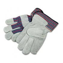 Men's Gunn Gloves with Leather Palm, Large, Gray/Multi, Pair