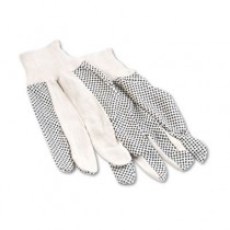 Men?s PVC Dotted Canvas Clute Gloves, One Size, Pair