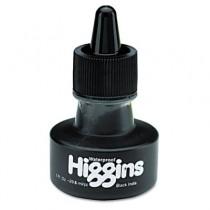 Higgins Waterproof India Ink for Art/Technical Pens, Black, 1 oz Bottle