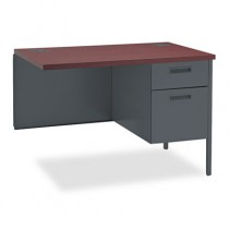 Metro Classic Series Workstation Return, Right, 42w x 24d, Mahogany/Charcoal