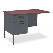 Metro Classic Series Workstation Return, Left, 42w x 24d, Mahogany/Charcoal