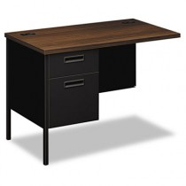 Metro Classic Series Workstation Return, Left, 42w x 24d, Columbian Walnut/Black