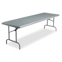 IndestrucTable TOO 1200 Series Resin Folding Table, 96w x 30d x 29h, Charcoal