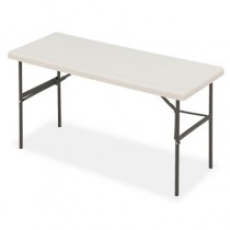 IndestrucTable TOO 1200 Series Resin Folding Table, 60w x 24d x 29h, Platinum