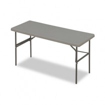 IndestrucTable TOO 1200 Series Resin Folding Table, 60w x 24d x 29h, Charcoal