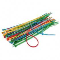Cable Ties, 6-3/8 Length, Assorted Colors