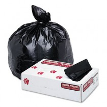 Low-Density Can Liner, 38 x 58, 60-Gallon, 1.7 Mil, Black