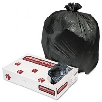 Industrial Strength Commercial Can Liners, 33gal, .6 mil, Black