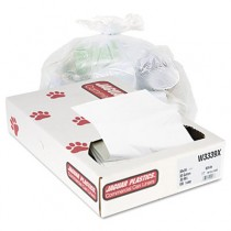 Industrial Strength Commercial Can Liners, 33 gal, .9mil, White