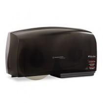 Ioreless JRT Twin Jumbo Roll Tissue Dispenser, 20w x 6d x 11h, Smoke/Gray