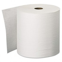"KLEENEX Hard Roll Towels, 8"" x 600', White"
