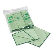 WYPALL Cloths w/Microban, Microfiber 15 3/4 x 15 3/4, Green