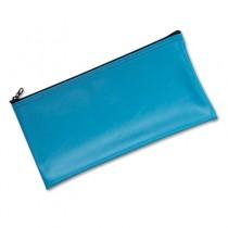 Leatherette Zippered Wallet, Leather-Like Vinyl, 11w x 6h, Marine Blue