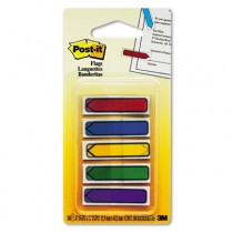 "Arrow 1/2"" Flags, Blue/Green/Purple/Red/Yellow, 20/Color, 100/Pack"