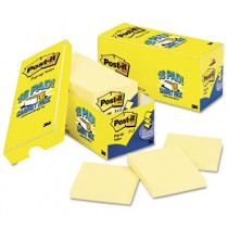 Cabinet Pack, Pop-up Notes, 3 x 3, Canary Yellow, 18 90-Sheet Pads/Pack