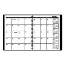 "Monthly Planner, Black, 6 7/8"" x 8 3/4"", 2013-2014"