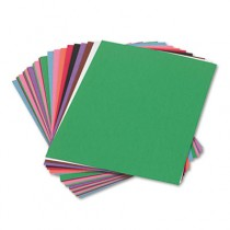 Construction Paper, 58 lbs., 9 x 12, Assorted, 50 Sheets/Pack