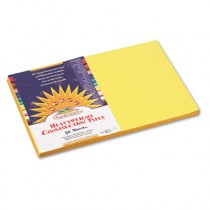 Construction Paper, 58 lbs., 12 x 18, Yellow, 50 Sheets/Pack