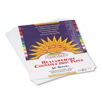 Construction Paper, 58 lbs., 9 x 12, Bright White, 50 Sheets/Pack