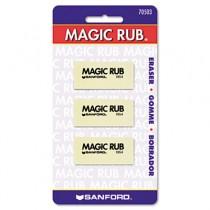 MAGIC RUB Art Eraser, Vinyl, 3/Pack