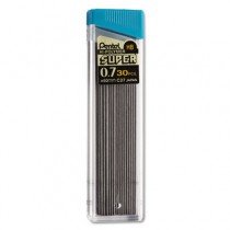 Super Hi-Polymer Lead Refills, 0.7mm, HB, Black, 30 Leads/Tube