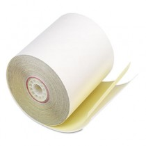 """Paper Rolls, Two-Ply Receipt Rolls, 3"""" x 90 ft, White/Canary , 50/Carton"""