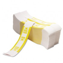 Color-Coded Kraft Currency Straps, $10 Bill, $1000, Self-Adhesive, 1000/Pack