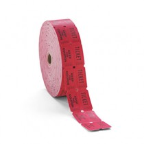 Consecutively Numbered Double Ticket Roll, Red, 2000 Tickets/Roll