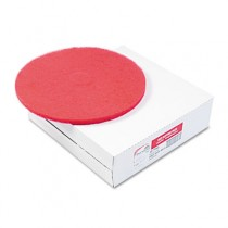 "Standard 12"" Diameter Buffing Floor Pads, Red"