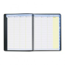QuickNotes Recycled Weekly/Monthly Appointment Book, Black, 8 1/4 x 10 7/8, 2013