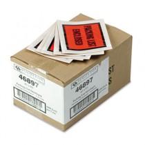 Full-Print Self-Adhesive Packing List Envelope, Orange, 5 1/2 x 4 1/2, 1000/Box