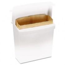 Wax-Coated Sanitary Napkin Bags, Brown, 9 3/4w x 3 3/4d x 9 7/8h