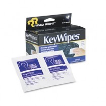 KeyWipes Keyboard & Hand Cleaner Wet Wipes, 5 x 6 7/8, 18/Box