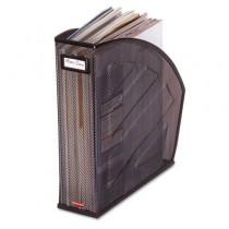 Standard Rolled Mesh Steel Magazine File, 4 7/8 x 10 1/2 x 11 3/4, Black