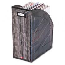 Nestable Rolled Mesh Steel Jumbo Magazine File, 5 7/8 x 10 x 12 1/2, Black