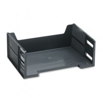 Stackable High-Capacity Side Load Letter Tray, Polystyrene, Ebony