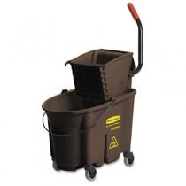 Wavebrake 35-Quart Bucket/Wringer Combinations, Brown