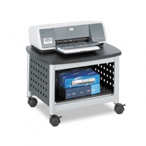 Scoot Printer Stand, 20-1/4w x 16-1/2d x 14-1/2h, Black/Silver