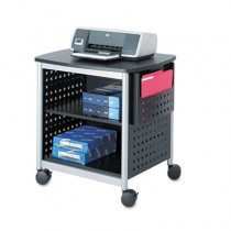 Scoot Printer Stand, 26 1/2w x 20 1/2d x 26 1/2h, Black/Silver