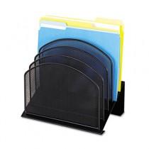 Mesh Desk Organizer, Five-Tiered Sections, Steel, 11 1/4 x 7 1/8 x 11 5/8, Black