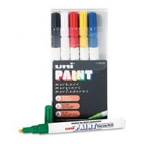 uni-Paint Markers, Fine Point, Assorted, 6/Set